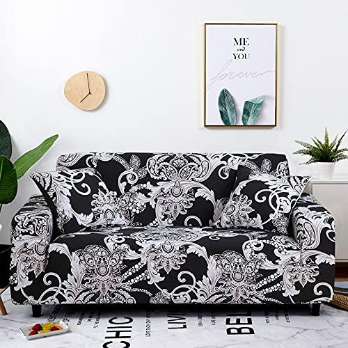 Funda elástica para sofá, Funda para Muebles, Fundas elásticas para sofá para Sala de Estar, Fundas para sillones, Fundas para sofá A17, 4 plazas
