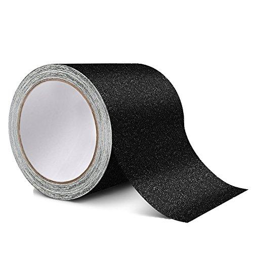 rutschfeste Traktion Tape – Beste Grip, Reibung, Schleifmittel selbstklebend für Treppen, Sicherheit, Stufen, innen-, 4 inch X 15 Fuß-– Schwarz