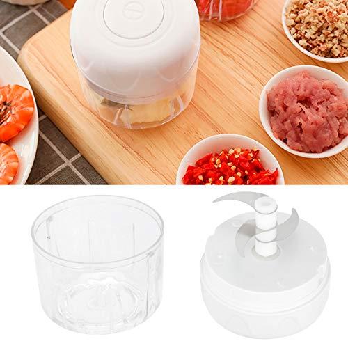 logozoee Picadora de ajo, Mini cortadora eléctrica de ajo, cortadora de ajo Aparato de Cocina para Alimentos, Verduras, Frutas, condimentos y Especias