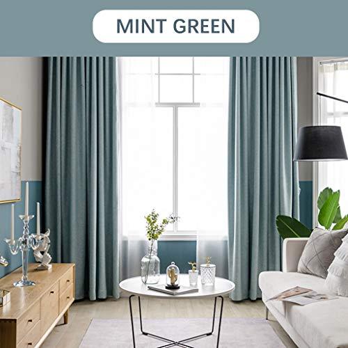 Xiao Jian gordijnen warmtegeïsoleerde ramen verduisteringsgordijnen 99% gehakt verduisteringsgordijnen voor de slaapkamer 1 paneel (kleur: mintgroen, afmeting: W2.5m x H2.7m)