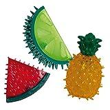 Croci Juguete Refrescante para Perros Fruity, Goma TPR, para Llenar con Agua Y Congelar O Poner En La Nevera Antes De Usar, 11-13Cm. Materias Variadas 10 g