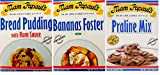 Mam Papaul New Orleans Desserts Bundle - 1 each of Bread Pudding, Bananas Foster and Praline Dessert Mixes