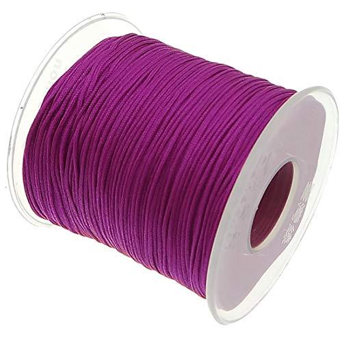 My-Bead Cinta de Nailon Cordón trenzado fucsia rosa diámet