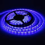 SODIAL(R) Cinta de Luz Azul 5M 300 LED 3528 SMD 12V a Prueba de Agua