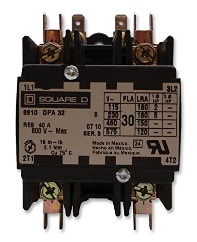 SQUARE D BY SCHNEIDER ELECTRIC 8910DPA32V09 Contactor, Panel, 600 VAC, DPST-NO, 2 Pole