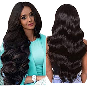 Lace Front Wigs Human Hair Pre Plucked with Baby Hair Body Wave Lace Closure Wigs Human Hair Glueless Body Wave Remy Hair Wigs for Women 150% Density Natural Color  20 Inch Body Wave Human Hair Wigs