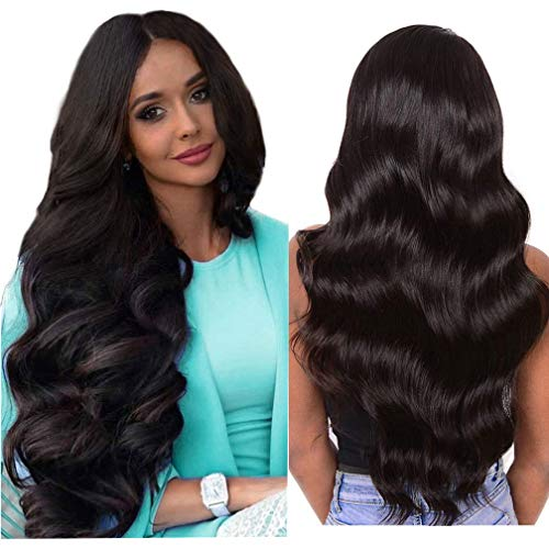 Body Wave Lace Closure Wigs Human Hair Glueless Body Wave Wig Natural Wet and Wavy Lace Closure Hair Remy Human Hair Wigs for Black Women 150% Density Real Hair Pre Plucked(20inch Body Wave Wig)