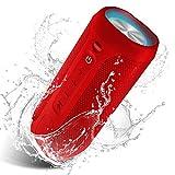 EDUPLINK Outdoor Portable Bluetooth Wireless Speaker - Waterproof - Red