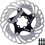YBEKI Freno Disco Rotores Bicicleta 140mm 160mm 180mm 203mm Bicicleta Freno Disco para Bicicleta de Carretera, Bicicleta de Montaña, MTB, BMX (negro, 160mm)