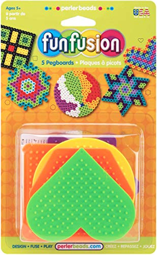 Perler Beads Small Fun Shaped Pegboards-7 Count