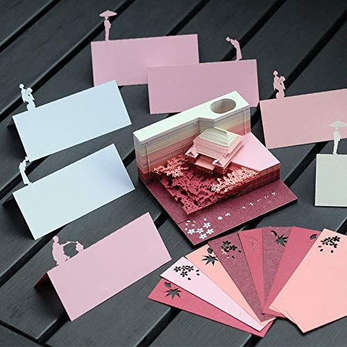 3D Threedimensional Postit Building Model Creative Art Paper Carving Note Paper Valentine's Day Birthday Gift
