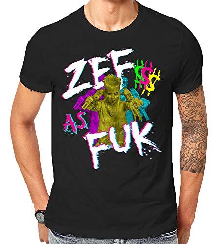 Zef Lifestyle Die Cool No Regrets Antwoord Gift T-Shirt Weihnachten (3X-Large)
