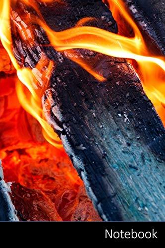 Notebook: Fuego, Rojo, Carbones, Árbol Cuaderno / Diario / Libro de escritura / Notas - 6 x 9 pulgadas (15.24 x 22.86 cm), 110 páginas, superficie brillante