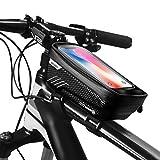 BACAKSY Bolsa Movil Bicicleta, Bolsas de Bicicleta Impermeable Bolsa Manillar Bicicleta Pantalla Táctil Sensible Tubo Superior Soporte Bolsa Táctil Bicicleta para iPhone Samsung Huawei Debajo de 6,5''