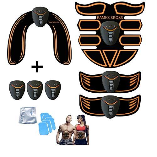 kames skoss prestige EMS Muskelstimulator bauchtrainer ABS Trainingsgerät,Abdominal Trainer, Muscle Stimulation Electro Stimulation Training Device Abdominal