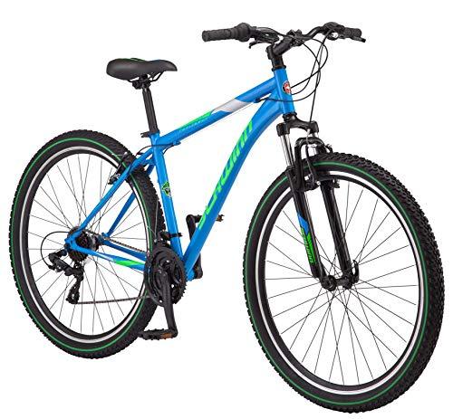 Schwinn High Timber Youth/Adult Mountain Bike, Steel Frame, 29-Inch Wheels, 21-Speed, Blue