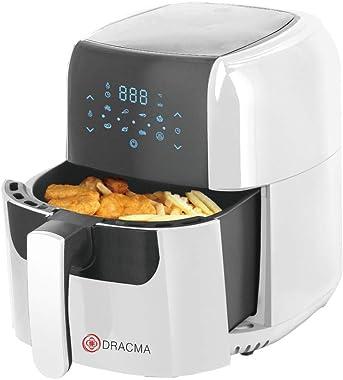 Freidora de Aire Dracma 5.5 lts Air Fryer Antiadherente Color Blanco