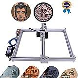 DIY CNC Laser Engraver Kits Wood Carving Engraving Cutting Machine Desktop Printer Logo Picture Marking, 40x50cm,2 Axis (2500MW)