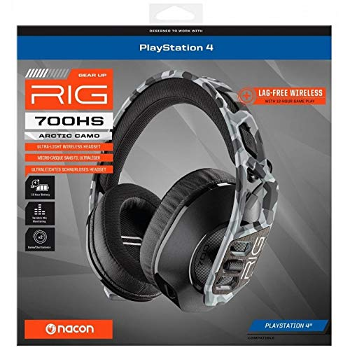 Nacon RIG700HSARCTCAMO - Auricular Wireless Gaming PlayStation PS4, Camuflaje