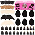 High Heel Replacement Tips Women - 10 Pairs Shoes Taps Caps Replacements 5 Sizes 3 Pairs Adhesive Non-Slip Shoes Pads 3 Pairs Heel Cushion Inserts 2 Pairs Shoe Filler Shoes Accessories Repair Kit