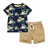 frauit completino bambino set di 2 pezzi top tuta maglietta estate ragazzo elegante camicia corta e pantaloncini estate magliette per bambini maniche corte t-shirt