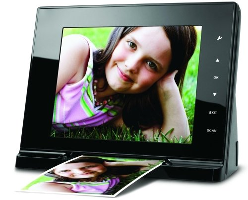 JOBO Scan Viewer Digitaler Bilderrahmen (20,3 cm (8 Zoll) Display) und Scanner