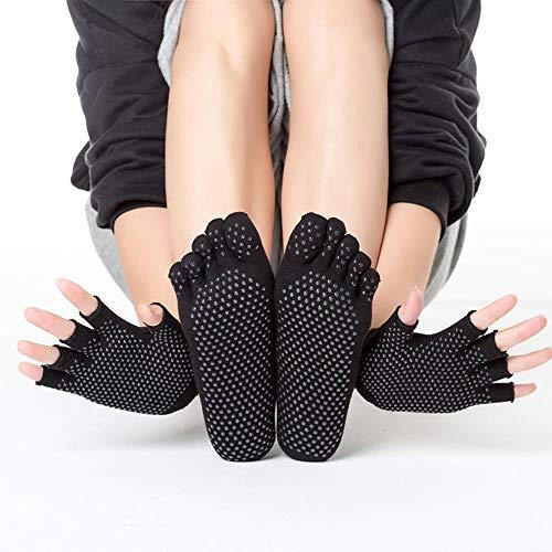 3 paar nieuwe yoga sokken, vrouwen pak handschoenen, katoen korte sokken, super antislip, volledige zweet absorptie, deodorant sport