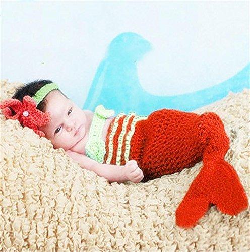 PEPEL Jeu de Costume bébé Photographie Prop Infantile Belle sirène