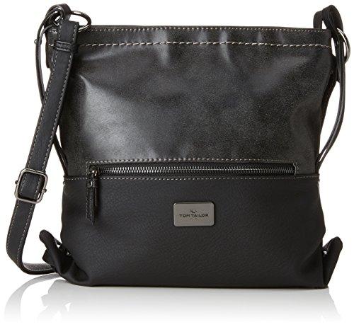 TOM TAILOR Umhängetasche Damen Elin, Umhängetasche Schwarz (Schwarz), 9x26x28.5 cm,, Damen Handtasche TOM TAILOR Handtaschen, Taschen für Damen, klein