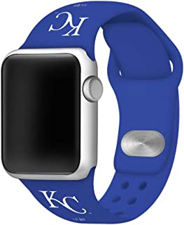 GAME TIME Kansas City Royals Silicone Sport Band Compatible with Apple Watch 38mm/40mm Royal Blue