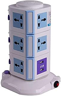 Other Universal Vertical Power Socket Multi function Plug, 4 USB 3 m, Extension for all Electronics