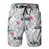 LJKHas232 163 Mens Summer Swun Trunks Quick Dry Board Shorts da Spiaggia esot Estivi Tropicali Luminosi L