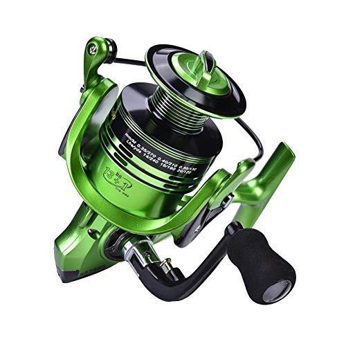 Redxiao 【 】 Herramienta de Pesca Carrete de Agua Salada Ligero, Accesorio de Aparejos Carrete de Pesca, Pesca de mar para Pesca de Agua Dulce(Green XF7000)