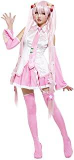 Coskidz Women's Sakura Miku Hatsune Cosplay Costume with Hair Pins