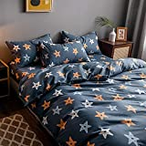 YFGY Comforter Cover Sets Double Five-Pointed Star,Cotton Duvet Cover Home Textiles Bedroom For Boys,Girl'S Printed Bedding Fitted Sheet Set 1.8m Bed