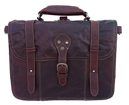 BROOKS, 4-in-1 tas, echt buffelleer, aktetas, rugzak, schoudertas, fietstas in één, By Aski Bags (Brandy)