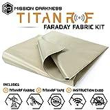 TitanRF Faraday Fabric // EMI & RFID Shielding/Cell, WiFi & Bluetooth Blocking/Military Grade Shielding Fabric (44in W x 36in L / 11sq ft / 1.22 sq yds) + Free 12in L Conductive Adhesive Tape