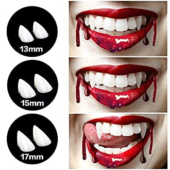 CPSYUB Cosplay Vampire Fangs Cosplay Accessories Halloween Party Prop Decoration Fake Vampire Teeth Werewolf Fangs Vampire Dentures for Kids / Adults  3 Pairs