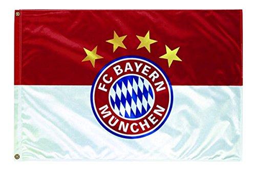 FC Bayern Fahne Originalware Flagge 100 x 150 cm Motiv LOGO + Ösen Service