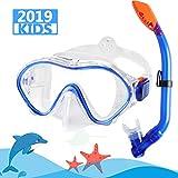 Kekilo Snorkel Mask Set,Scuba Diving 180° Panoramic Wide View, Anti-Fog Scuba Diving Mask