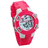 JewelryWe Relojes para Niños Niñas Reloj Deportivo Digital para Aire Libre Reloj Infantil Rojo, 3ATM A Prueba de Agua Dibujos Animados