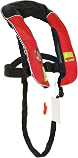 Premium Quality Automatic/Manual Inflatable Life Jacket Lifejacket PFD Life Vest w Zippered Pocket Inflate Survival Aid PFD for Children Youth Kids
