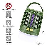 Tentock USB Wiederaufladbar Moskito Lampe Insektenvernichter Elektrischer Bug Zapper LED Campinglampe Zeltlampe mit 2200mAh akku, IXP4 Wasserdicht