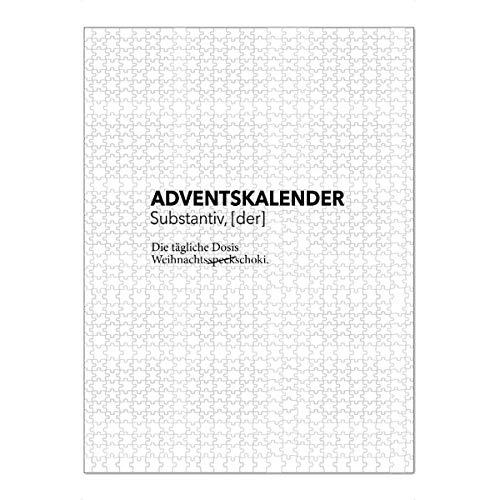 artboxONE Ravensburger-Puzzle XXL (1500 Teile) Typografie Adventskalender 5
