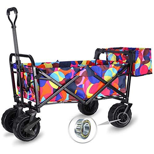 CRZJ Zusammenklappbar Folding Garten Outdoor Park Utility-Wagon Picknick Camping Wagen mit 8