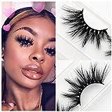 YABINA ACCESSORY 1 Pair Box Long Cross 25mm High Cruelty Mink Makeup Natural 3D Fake Natural False Eyelashes (M88)