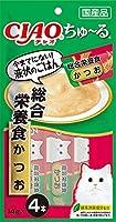 (まとめ買い)いなばペットフード CIAO ちゅ~る 総合栄養食 かつお 14g×4本 SC-158 猫用 【×16】