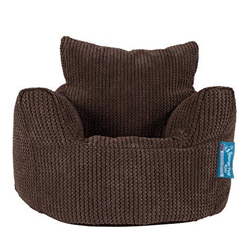 Lounge Pug®, Fauteuil Enfant, Pouf Enfant, Pompon Chocolat