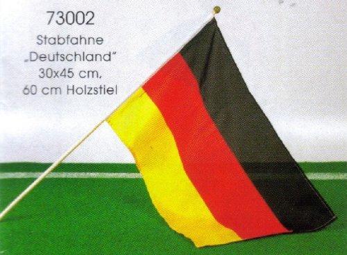 Stabfahne Deutschland 30 x 45 cm mit Holzstab - super geeignet fürs Stadion