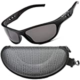 Zillerate Polarized Sunglasses for Men, Gafas de Sol Para Hombre, Mens Sunglasses Polarized UV Protection Womens Sports Sun Glasses Fishing Golf Cycling Running Driving Wrap Around TR90 Frame (Black)